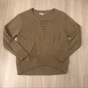 Solemio Destroyed Knit Sweater
